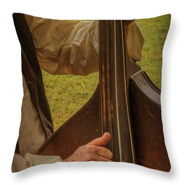 Throw Pillow featuring the photograph Musician 1370 by Guy Whiteley