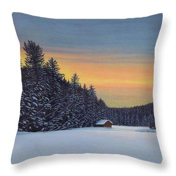 Muskoka Winter Throw Pillow