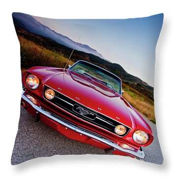 Mustang Convertible Throw Pillow