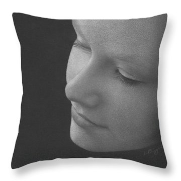 Muted Shadow No. 9 Throw Pillow