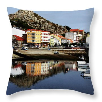 Muxia Camino Reflections Throw Pillow