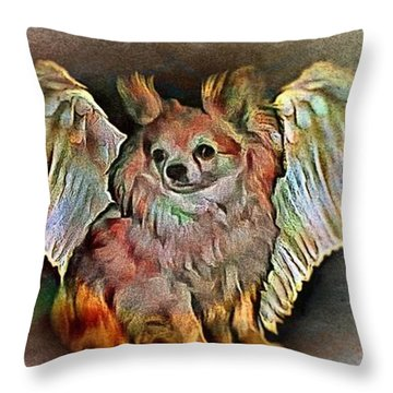 My Angel Waits For Me Throw Pillow