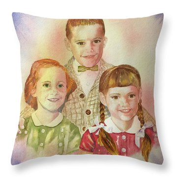 The Latimer Kids Throw Pillow