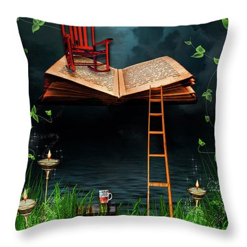 My Book Said Come Fly With Me Throw Pillow