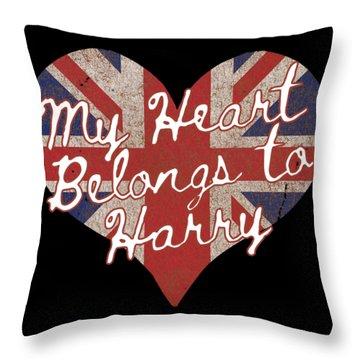 My Heart Belongs To Prince Harry Throw Pillow