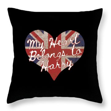 My Heart Belongs To Prince Harry Throw Pillow