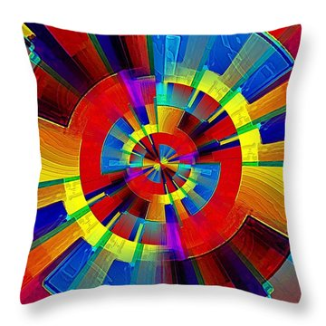 My Radar In Color Throw Pillow
