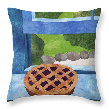 My Soul In A Blackberry Pie Throw Pillow