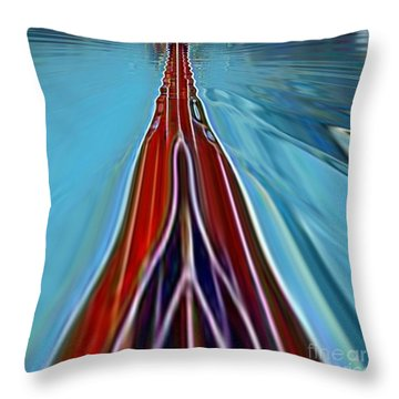 Throw Pillow featuring the painting My Way by A zakaria Mami