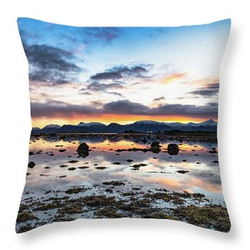 Myre Swapm Walkway On Vesteralen Norway Throw Pillow
