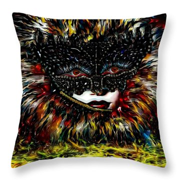 Mystica Coloure Throw Pillow