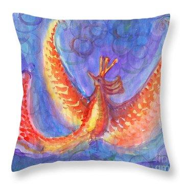 Mystical Phoenix Throw Pillow