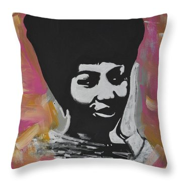 Mz Franklin Throw Pillow