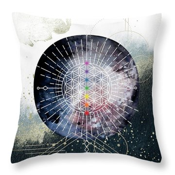 Throw Pillow featuring the digital art Namaste by Bee-Bee Deigner