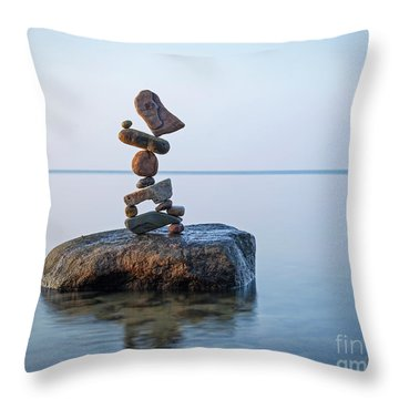 Zen Stack #9 Throw Pillow