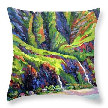 Napali Coast Evening Colours Throw Pillow