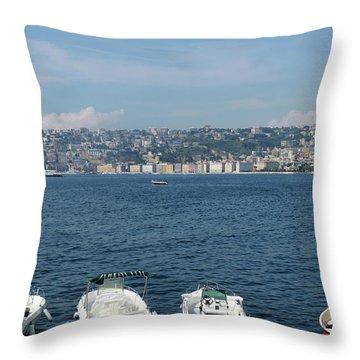 Naples Port Throw Pillow