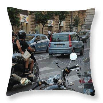 Naples Street Buzz Throw Pillow
