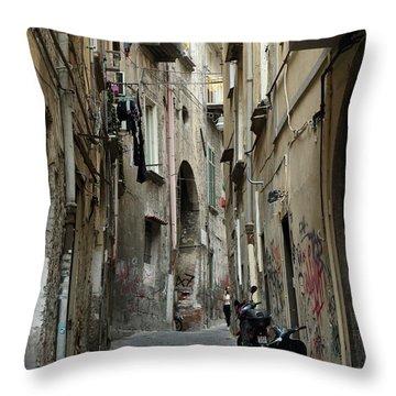 Naples Street Throw Pillow