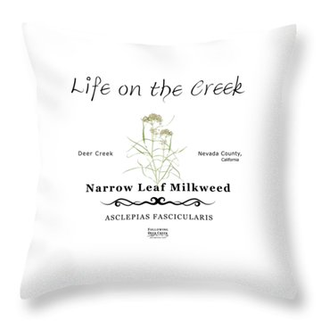 Narrow Leaf Milkweed Throw Pillow
