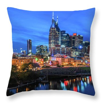 Nashville Night Throw Pillow