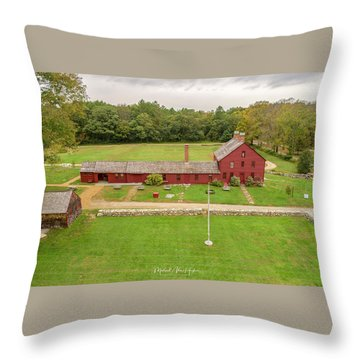 Throw Pillow featuring the photograph Nathan Hale Homesead by Michael Hughes