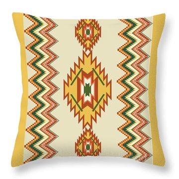 Native American Rug Throw Pillow