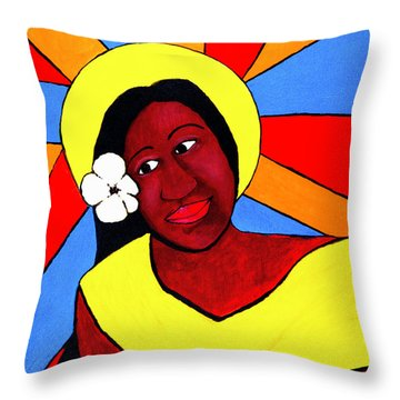 Native Queen Throw Pillow