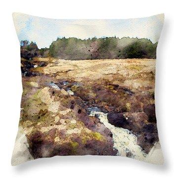 Natural Music Throw Pillow
