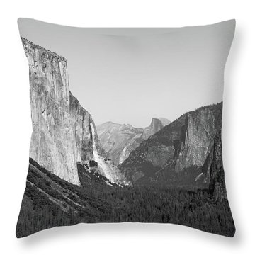 Nature At Its Best - Black-white Throw Pillow