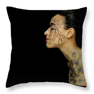 Throw Pillow featuring the photograph Nature Runs Through My Veins by ISAW Company