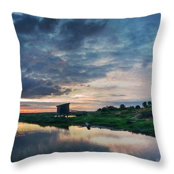 Throw Pillow featuring the photograph Nature Spectacle In Alviso by Quality HDR Photography