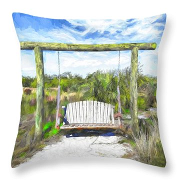 Nature Swing Throw Pillow