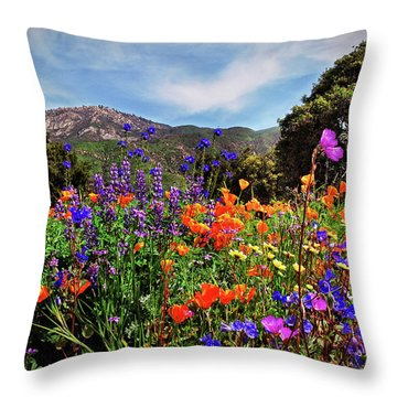 Nature's Bouquet  Throw Pillow