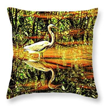 Nature's Mirror Throw Pillow