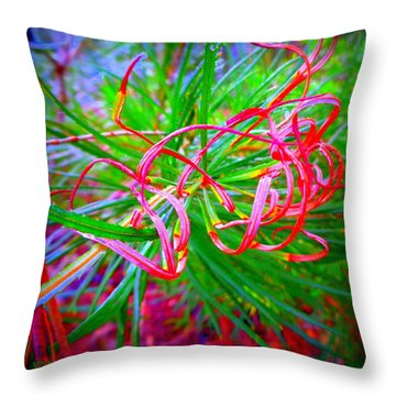 Nature's  Ribbons Throw Pillow