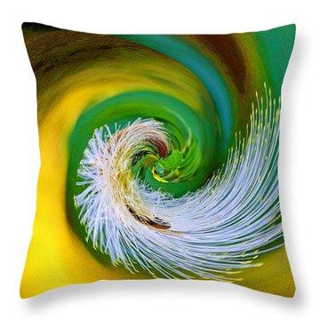 Nature's Spiral Throw Pillow