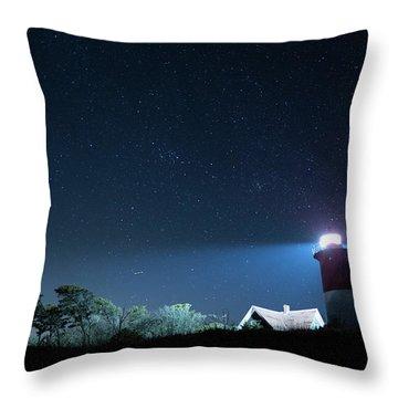 Nauset Light Under The Stars Throw Pillow