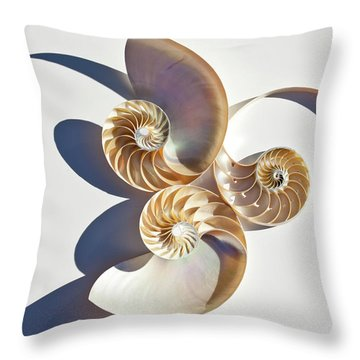 Throw Pillow featuring the photograph Nautilus 0425 by Mark Shoolery