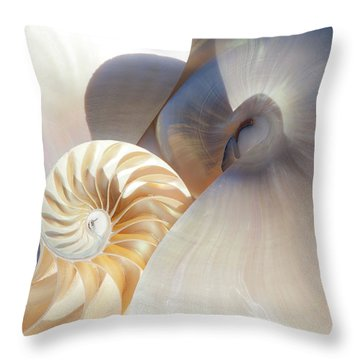 Throw Pillow featuring the photograph Nautilus 0442 by Mark Shoolery