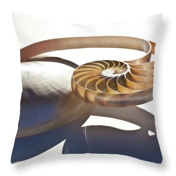 Throw Pillow featuring the photograph Nautilus 0469 by Mark Shoolery