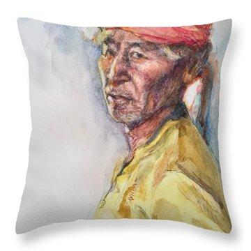 Navaho Man Throw Pillow