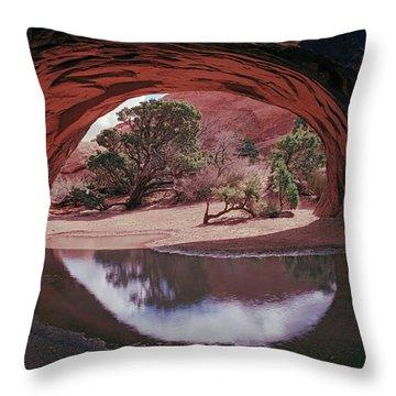 Navajo Arch Reflection Throw Pillow