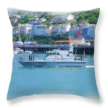 Naval Vessel Throw Pillow