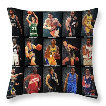 Nba Legends Throw Pillow