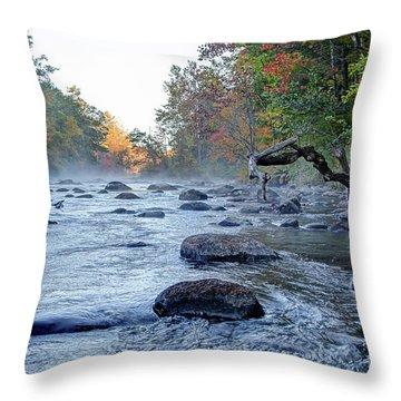 Near Riverton Throw Pillow