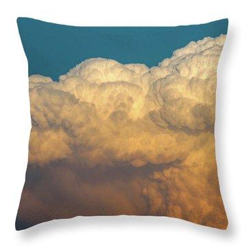 Nebraska Sunset Thunderheads 053 Throw Pillow