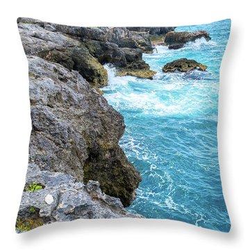 Negril Jamaica Cliffs Throw Pillow
