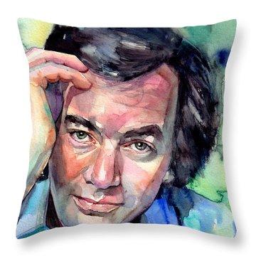 Neil Diamond Portrait I Throw Pillow