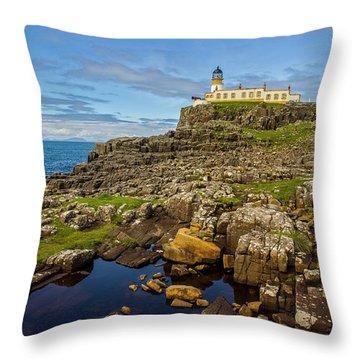 Neist Point Lighthouse No. 2 Throw Pillow